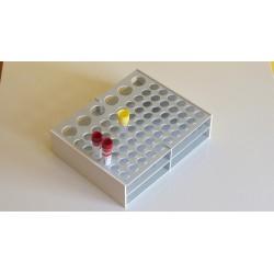Atypický kombinovaný laboratorní stojánek pro 66 zkumavek AS17602606