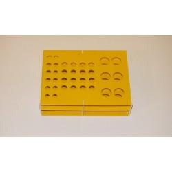 Atypický kombinovaný laboratorní stojánek pro 34 zkumavek AS34