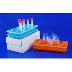 Atypický laboratorní stojánek s gumovou vložkou ABS pro 50 zkumavek ASABS1850