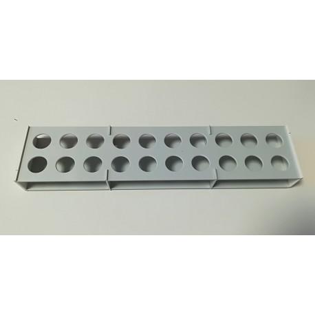 Atypický laboratorní stojánek snížený pro 20 zkumavek AS1920N