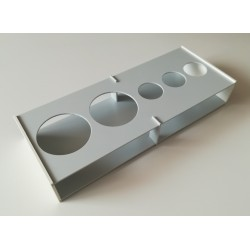 Atypický kombinovaný laboratorní stojánek snížený, na zakázku, pro 5 zkumavek Z55023003N