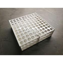 Laboratorní stojánek na 100 zkumavek LS13100.1