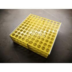 Laboratorní stojánek na 100 zkumavek LS13100.2