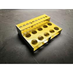 Atypický laboratorní stojánek kombinovaný ve tvaru L, pro 15 zkumavek AS17103010L