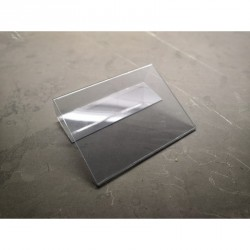 Jmenovka na lůžko, transparentní JC100130