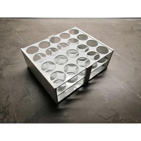 Atypický laboratorní stojánek do boxu pro 20 zkumavek AS3020B