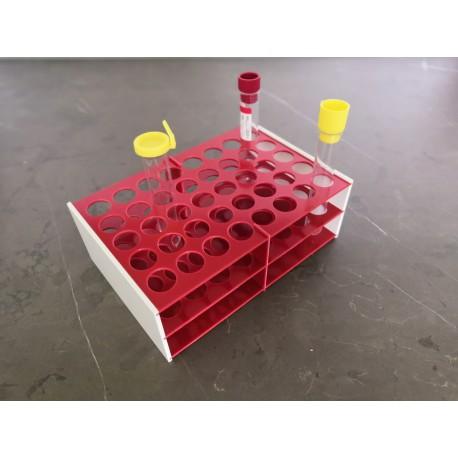 AKCE - Laboratorní stojánek na 40 zkumavek LS1740.1