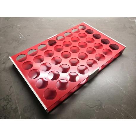 Atypický laboratorní stojánek snížený pro 40 zkumavek AS3040N