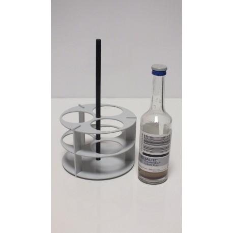 Kulatý laboratorní stojánek na 3 zkumavky LSK3V