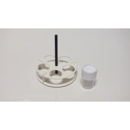 Kulatý laboratorní stojánek na 12 zkumavek LSK12Kulatý laboratorní stojánek nízký, na 5 zkumavky LSK5N